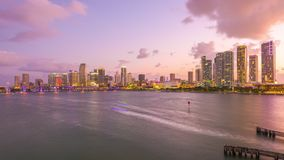 Miami, Florida, USA downtown city skyline