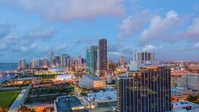 Miami, Florida, USA. Downtown cityscape stock footage