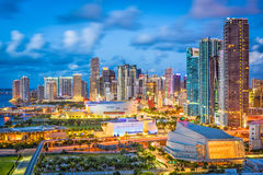 Miami, Florida, USA. Downtown cityscape stock image