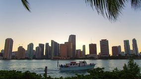 Miami, Florida, USA downtown skyline. stock footage