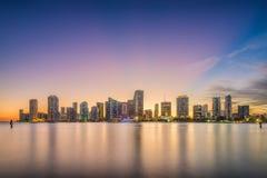 Miami, Florida, USA skyline on Bisayne Bay Stock Photography