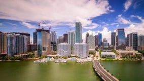 Miami, Florida, USA. Skyline on Biscayne Bay stock footage