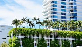 Miami florida usa three story parking palms roof