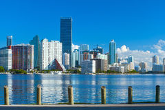 Miami Floryda, Brickell i w centrum pieniężni budynki, Zdjęcia Stock