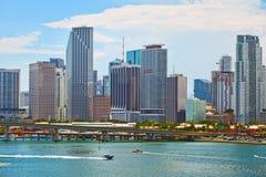 Miami Floryda, linia horyzontu śródmieście Obrazy Stock