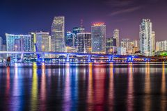 Miami Floryda linia horyzontu Fotografia Royalty Free