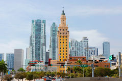 Miami. The Freedom Tower. The Freedom tower is built in a Mediterranean style. In 2008, the tower was given the status of national monument of the United States Stock Photo