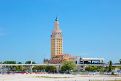Miami. The Freedom Tower. The Freedom tower is built in a Mediterranean style. In 2008, the tower was given the status of national monument of the United States Royalty Free Stock Photography