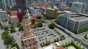 Miami Freedom Tower en MDCC-Universiteit stock videobeelden