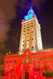 Miami Freedoom tower is famous city landmark used as a contemporary arts museum. Miami, Florida USA-November 17, 2015:  Miami Freedoom tower is famous city Stock Images