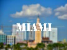 Miami-Freiheitsturmmarkstein stockbilder