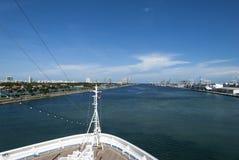 Miami Główny kanał fotografia royalty free