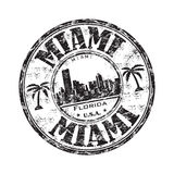 Miami grunge rubber stamp Royalty Free Stock Photo