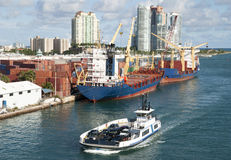 Miami-Hafen-Fähre stockfoto
