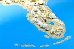 Miami halvö av sand och skal arkivbilder