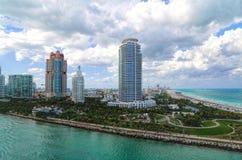 Miami harbor buildngs Stock Photos