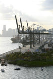 Miami harbour: cranes Royalty Free Stock Images