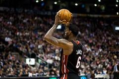 Miami Heat vs. Toronto Raptors Royalty Free Stock Photography