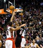 Miami Heat vs. Toronto Raptors Stock Photography