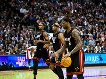 Miami Heat vs. Toronto Raptors Royalty Free Stock Images