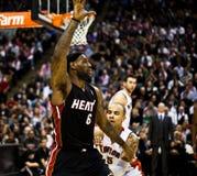 Miami Heat vs. Toronto Raptors Royalty Free Stock Photo