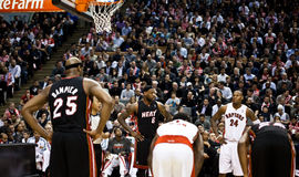 Miami Heat vs. Toronto Raptors Royalty Free Stock Images