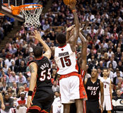 Miami Heat vs. Toronto Raptors Stock Photo