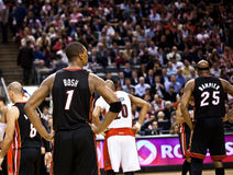 Miami Heat vs. Toronto Raptors Royalty Free Stock Photo