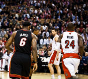 Miami Heat vs. Toronto Raptors Royalty Free Stock Image