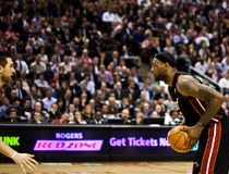 Miami Heat vs. Toronto Raptors royalty free stock photos