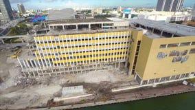 Miami Herald-Gebäudezerstörung stock video