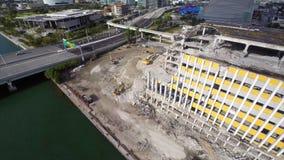 Miami Herald-Gebäudezerstörung 2 stock video