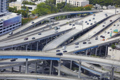 Miami highway interchange Royalty Free Stock Images