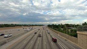 Miami Highway Traffic stock footage