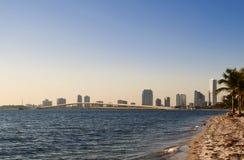 Miami horisont Royaltyfria Bilder