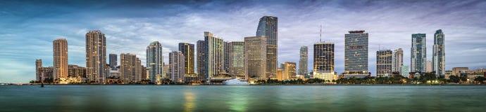 Miami horisont Royaltyfri Fotografi