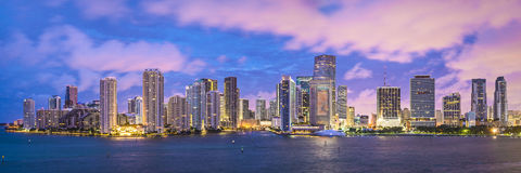 Miami horisont Royaltyfri Foto