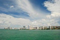 Miami horisont royaltyfria foton