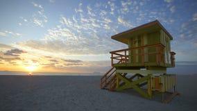 Miami horisont Timelapse arkivfilmer