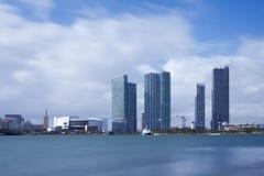 Miami horisont under dagen Royaltyfri Bild
