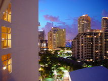 Miami Hotel. At night stock photography