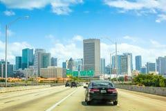 Miami i stadens centrum huvudväg Royaltyfri Bild