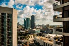 Miami-im Stadtzentrum gelegene Ansicht stockbilder