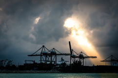 Miami industrial harbour Stock Photography