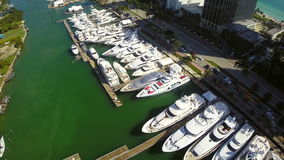 Miami International Boat Show stock footage