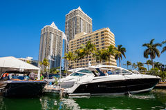 Miami International Boat Show Stock Images