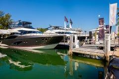 Miami International Boat Show Stock Photo