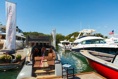 Miami International Boat Show. Miami Beach, Fl USA - February 13, 2016: The popular Miami International Boat Show features more than 3,000 boats and 2,000 Stock Images