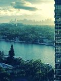 A fine look at Miami, Florida, USA. Miami is an international city at Florida`s southeastern tip. Its Cuban influence is reflected in the cafes and cigar shops Stock Photography
