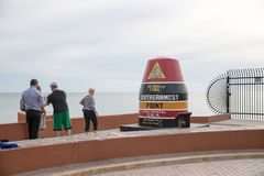 Southernmost point in continental. 90 miles to Cuba. Home of the Sunset. Key West. Florida. USA. royalty free stock image